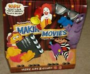 Great 1993 Mcdonald's Happy Meal Display Cardboard Sign Makin' Movies Toy Set