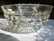 American Whitehall Fostoria Cube Clear Punch Bowl 13 3/8andrdquo