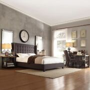 Sarah Wing Upholstered Bed Luxury Double King Size Superking