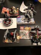 Lego Star Wars 6 Sets,used, Lot 2 With 4 Mini Figures And 3 Instruction,no Box.