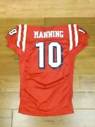 Eli Manning Game Used Ole Miss Football Jersey Size L Shows Light Use