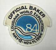 Vintage 1984 Louisiana World Exposition Official Baker Patch
