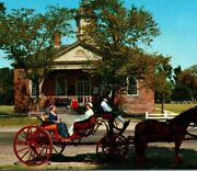 Courthouse Declaration Carriage Colonial Williamsburg Virginia Vintage Postcard