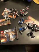 Lego Star Wars 5 Sets,used, Lot 1. With Total 3 Mini Figures And 4 Instructions