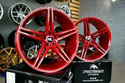 New 22 Inch 5x112 Forzza Bosan Candy Red Wheels For Mercedes Bmw G Series Rims