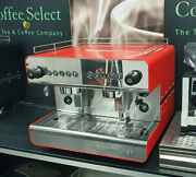 New Iberital Ib7 2 Group Compact Espresso Machine In Red Or Black Andpound1999+vat