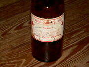 Great Old Amber Glass Poision Bottle Tampa Drug Company Fla. Crude Carbolic Acid