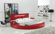 Oslo Round Bed With Headboard Lights Red