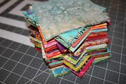 100 Pc 5 Inch 5 X 5 Batik Charm Quilt Squares-cotton Fabric-crafts-sew