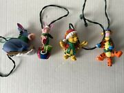 Disney Winnie The Pooh And Characters 3 Christmas Ornaments