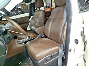 15-17 Infiniti Qx80 Limited Brown Leather Pair Of Front Seats Driver Passenger