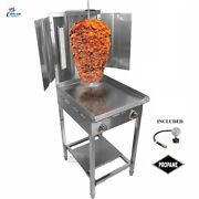 New Trompo Tacos Al Pastor Stainless Steel Shawarma Griddle Cooker Propane 2b