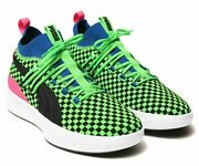 Clyde Court Summertime Shoes Fluro Green Black Pink 192893-01 Menand039s Size 11