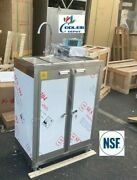 New 30 Portable 3 Compartment Sink Enclosed Stainless Steel Event Festival Nsf