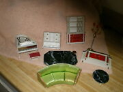 Ideal Miniature Furniture, Vintage Japan Lot Of 9 Pieces, As Found