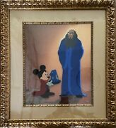 Fantasia 2000 Very Limited Edition Framed Cel. Mickey And Sorcerer Yen Sid