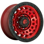 4 New 20x9 Fuel Zephyr Candy Red Black Bead Ring 5x150 D63220905650