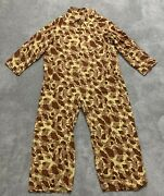 Wwii Military Us M1942 Duck Hunter Camo Frogskin Coverall Camoflauge Flight Suit