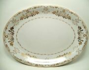 Vtg Classique Gold 3672 By Harmony House China Japan 14.25 Oval Serving Platter
