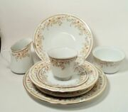 43 Piece Liling Fine China Serenity Yung Shen Service For 8 + Serving Pieces