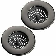Country Kitchen Set Of 2 Sink Strainers Flexible Silicone Good Grip Drainers -