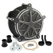 Snowflake Air Cleaner Intake Filter Kit For Harley Sportster 1200 883 Xl Iron 22