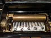 Antique 1875 Baker-troll Swiss 8 Tune Music Box W/ Inlaid Floral Decoration