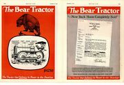 1922 Bear Tractors Of Nyc 2 Separate Page Ad Tulsa Oklahoma Dealership Letter