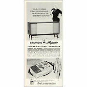 1960 Grundig Majestic Stereo Sixties Consoles Vintage Print Ad