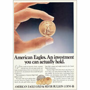 1987 American Eagle Gold And Silver Bullion Coins Actually Hold Vintage Print Ad