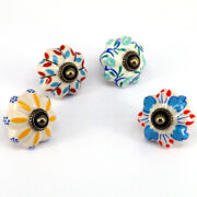 5x Multicolor Cabinet Handles And Knobs Furniture Wardrobe Pulls Hand Painted