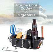 Boat Marine Caddy Storage For Boat Cup-drink Holder Phone Tackle Organizer Black
