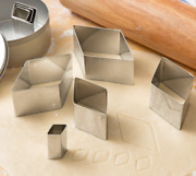 8-piece Cookie Cutter Set Stainless Steel Diamond Shapes Pastry Dough Baking