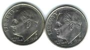 1996-p + D Uncirculated Roosevelt Dimes Both Business Types