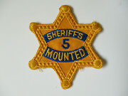 Vintage Los Angeles County California Sheriff Mounted Horse Trooper Police Patch
