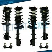 Toyota Corolla Chevy Geo Prizm Struts Assembly + Sway Bar Links All 4 Front Rear