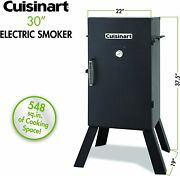 Cuisinart 30 Inch Outdoor Barbecue Electric Smoker Bbq Meat Smoker Grill Us Only