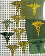 /us Army Collar Pins Officer Medical Dept.lot Of 101920s-70s