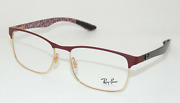 New Ray-ban Reading Glasses Rb 8416 3015 55-17 Gold Carbon-fiber Frames Readers