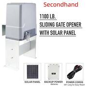 Secondhand Sliding Gate Opener W 20w Solar Panel Kit Remote Controls 1100lb 40ft