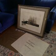 Early Bob Timberlake Le Etching Print Another World 38/300 Framed W/ Glass
