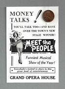 Nanette Fabray Debut Meet The People Jack Gilford 1940 Tryout Promo Card