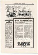 1919 Case 10-18 Tractor Ad Pulling 2 Full Wagons To Market. List Of Features