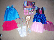 Adorable Htf Frozen Boxed Trunk Anna And Elsa Dress Up Wig. And Misc By. Jaks