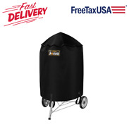 28.5 Bbq Grill Cover Heavy Duty All Weather Protect For Weber Kettle Gas Grill