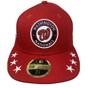New Era Washington Nationals 59fifty 5950 All Star Game Fitted 7 1/2 Hat Cap Mlb