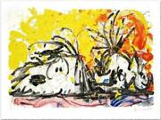 Tom Everhart Blow Dry Hand Signed And Numbered Lithograph Peanuts Snoopy