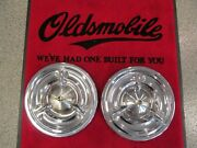 1957 Oldsmobile 88 98 Deluxe Spinner Wheel Cover Set Of 2 Scratch And Dent Sale