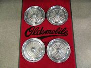 1956 Oldsmobile 88 98 Used 15 Inch Deluxe Spinner Wheel Cover Hubcap Set 4