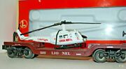 Lionel 6461 Aviation Flatcar---6-16968---with Ertl Helicopter---with Box